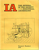 Journal of the Society for Industrial Archeology