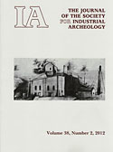 The Journal for the Society of Industrial Archeology